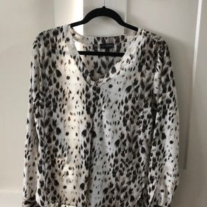 Leopard dress shirt/top